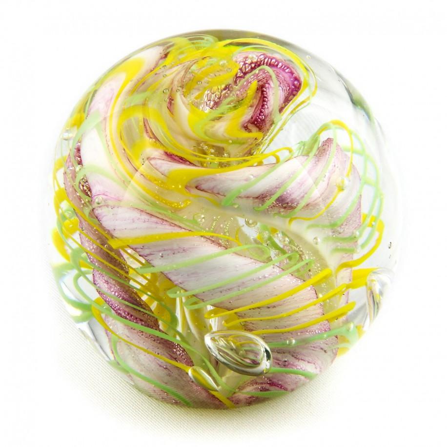 Briefbeschwerer Deko Glaskugel Traumkugel aus Kristallglas Paperweight 205
