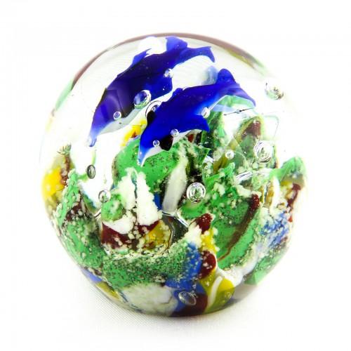 Briefbeschwerer Deko Glaskugel Traumkugel aus Kristallglas Paperweight 199