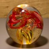 Briefbeschwerer Deko Glaskugel Traumkugel aus Kristallglas Paperweight 196