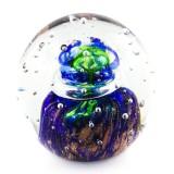Briefbeschwerer Deko Glaskugel Traumkugel aus Kristallglas Paperweight 189