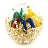 Briefbeschwerer Deko Glaskugel Traumkugel aus Kristallglas Paperweight 185