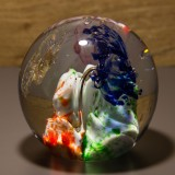 Briefbeschwerer Deko Glaskugel Traumkugel aus Kristallglas Paperweight 184