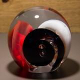 Briefbeschwerer Deko Glaskugel Traumkugel aus Kristallglas Paperweight 178