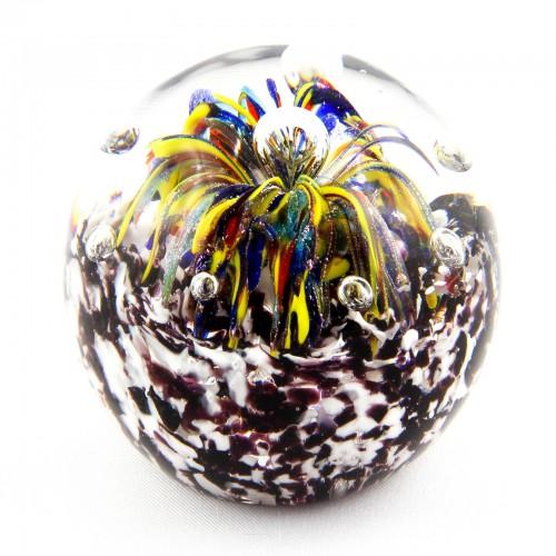 Briefbeschwerer Deko Glaskugel Traumkugel aus Kristallglas Paperweight 176