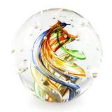 Briefbeschwerer Deko Glaskugel Traumkugel aus Kristallglas Paperweight 172