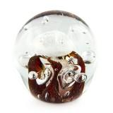 Briefbeschwerer Deko Glaskugel Traumkugel aus Kristallglas Paperweight 168