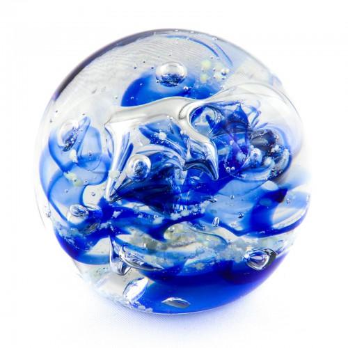 Briefbeschwerer Deko Glaskugel Traumkugel aus Kristallglas Paperweight 161