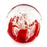 Briefbeschwerer Deko Glaskugel Traumkugel aus Kristallglas Paperweight 158