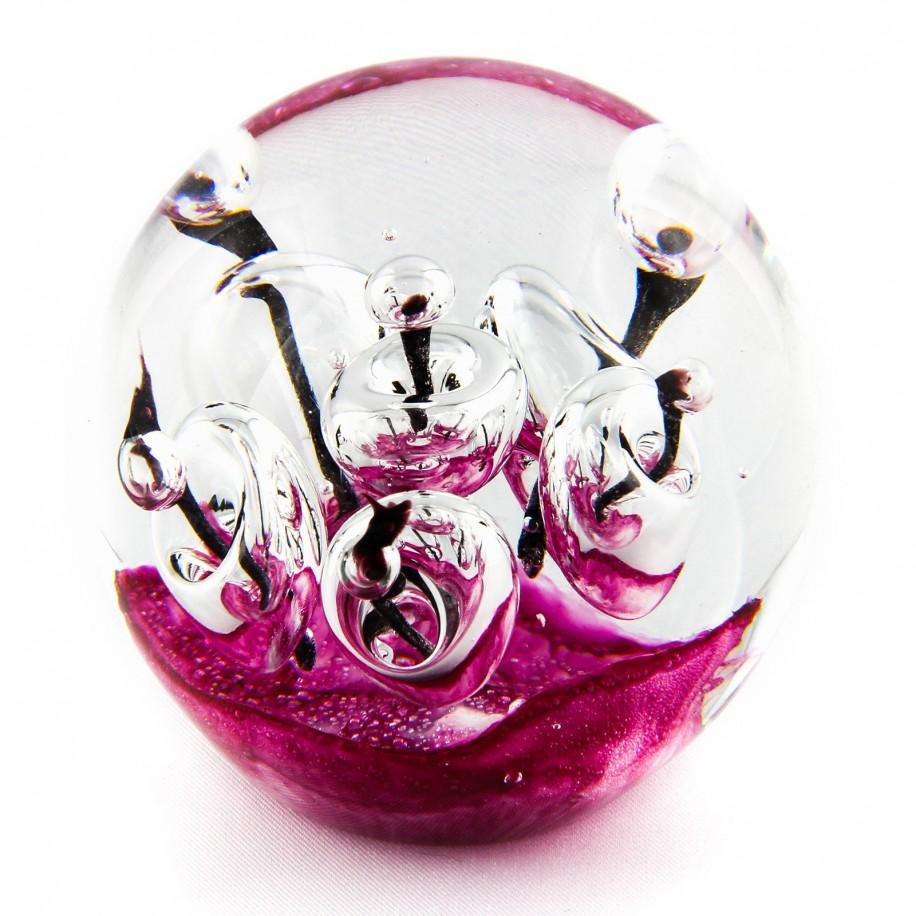 Briefbeschwerer Deko Glaskugel Traumkugel aus Kristallglas Paperweight 136