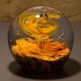 Briefbeschwerer Deko Glaskugel Traumkugel aus Kristallglas Paperweight 128