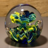 Briefbeschwerer Deko Glaskugel Traumkugel aus Kristallglas Paperweight 124