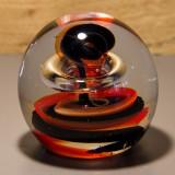 Briefbeschwerer Deko Glaskugel Traumkugel aus Kristallglas Paperweight 110