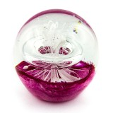Briefbeschwerer Deko Glaskugel Traumkugel aus Kristallglas Paperweight 97