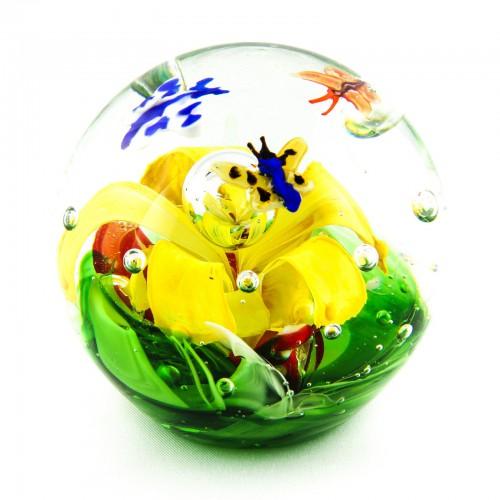 Briefbeschwerer Deko Glaskugel Traumkugel aus Kristallglas Paperweight 73