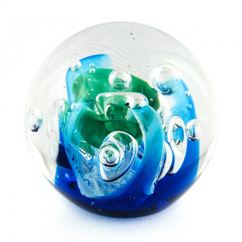 Briefbeschwerer Deko Glaskugel Traumkugel aus Kristallglas Paperweight 64