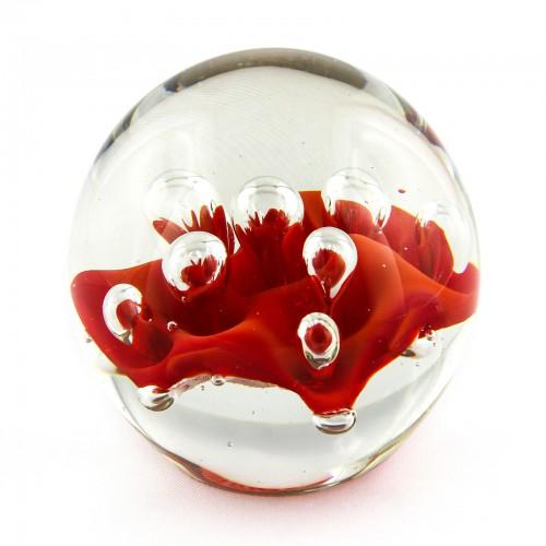 Briefbeschwerer Deko Glaskugel Traumkugel aus Kristallglas Paperweight 41