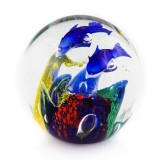 Briefbeschwerer Deko Glaskugel Traumkugel aus Kristallglas Paperweight 29