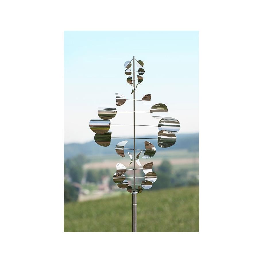 Edelstahl windspiel gartendekoration gartenstecker for Edelstahl gartendekoration