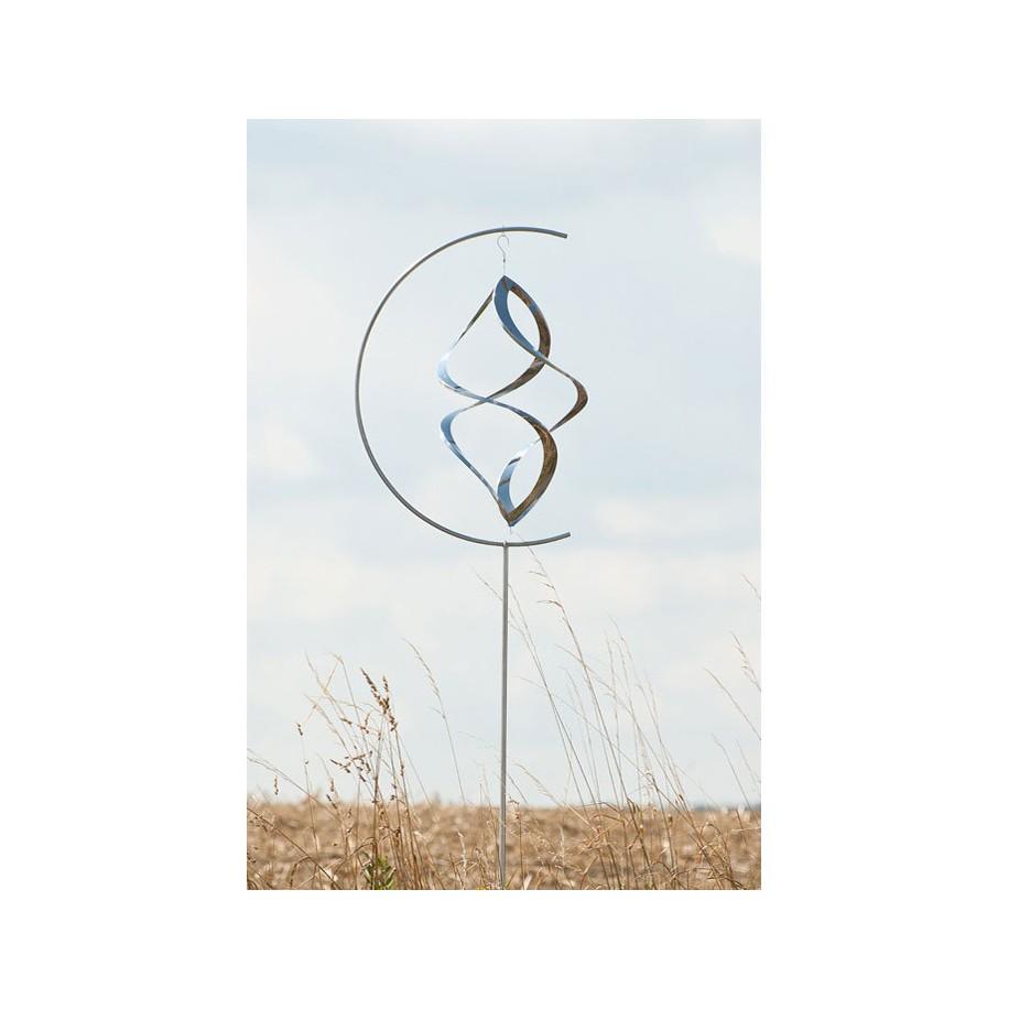 """Edelstahl Windspiel """"Twister medium"""""""
