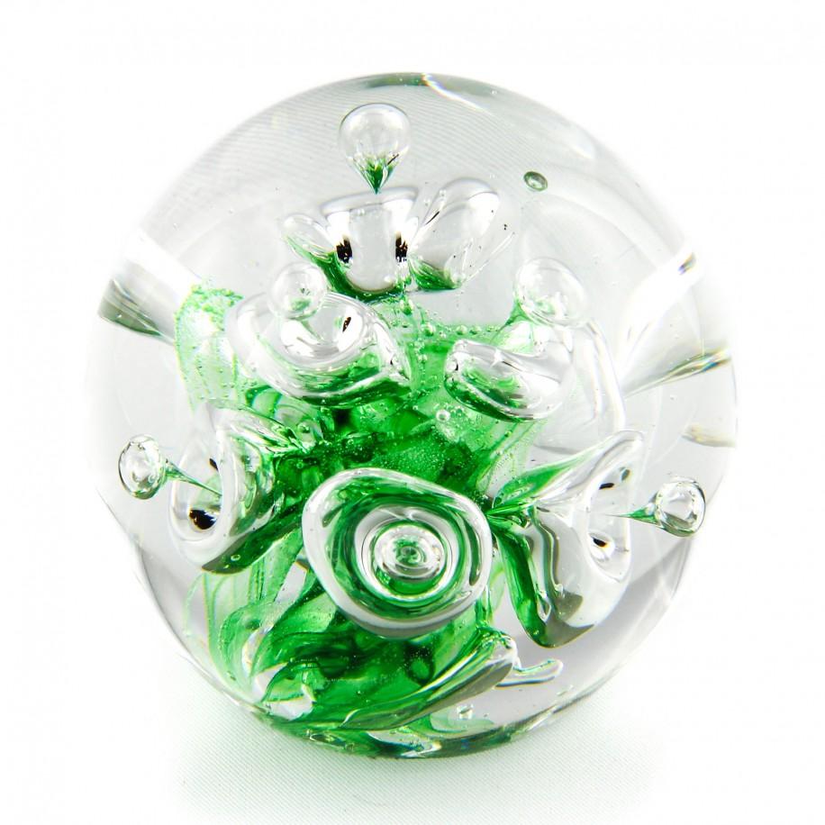 Briefbeschwerer Deko Glaskugel Traumkugel aus Kristallglas Paperweight 227