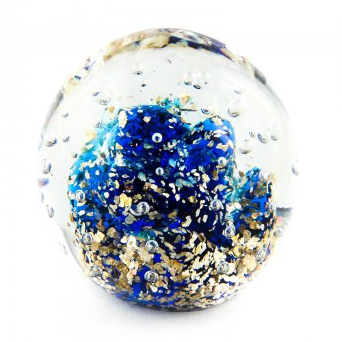 Briefbeschwerer Deko Glaskugel Traumkugel aus Kristallglas Paperweight 224