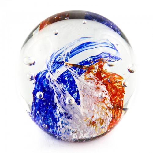 Briefbeschwerer Deko Glaskugel Traumkugel aus Kristallglas Paperweight 215