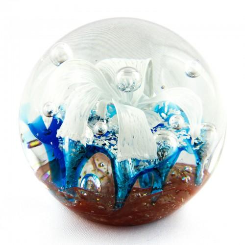 Briefbeschwerer Deko Glaskugel Traumkugel aus Kristallglas Paperweight 211