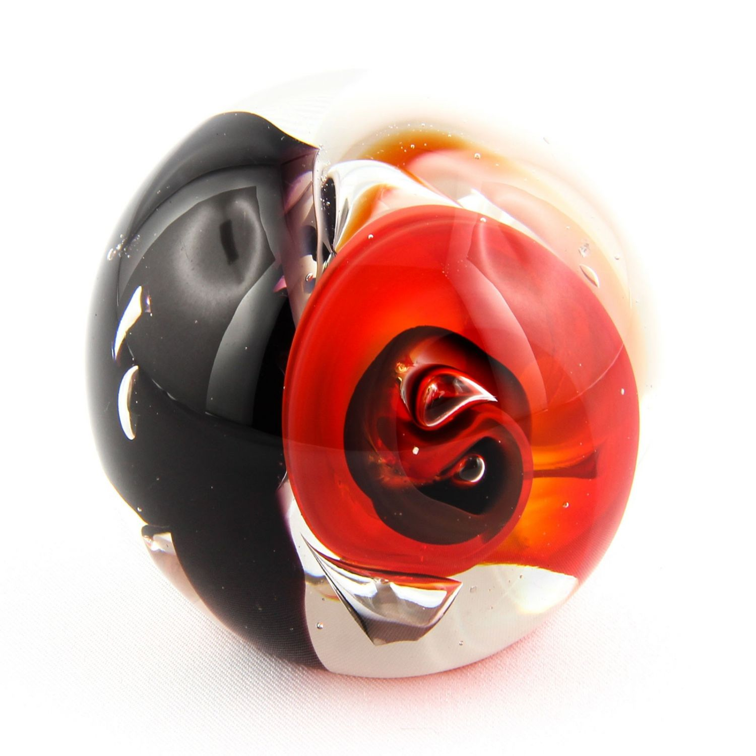 Crystal glass ball sphere paperweight deco art ebay