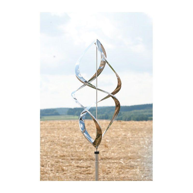 edelstahl windspiel gartenstecker gartendeko beetstecker skulptur, Terrassen ideen