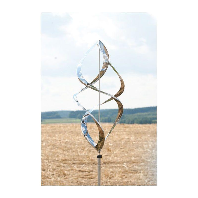 Edelstahl Windspiel Gartenstecker Gartendeko Beetstecker Skulptur ...